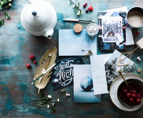 рождественский обмен открытками